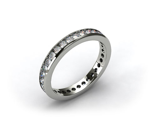 Ladies 0.75ctw* Channel Set Diamond Eternity Ring